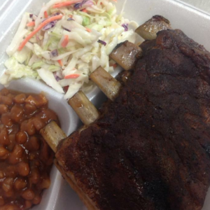 Smoked Ribs, Slaw & Beans